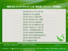 雨林木风Ghost Win10 (32位) 稳定快速版2016.12月(无需激活)