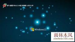萝卜家园Windows11 大神纯净版64位 2021.09